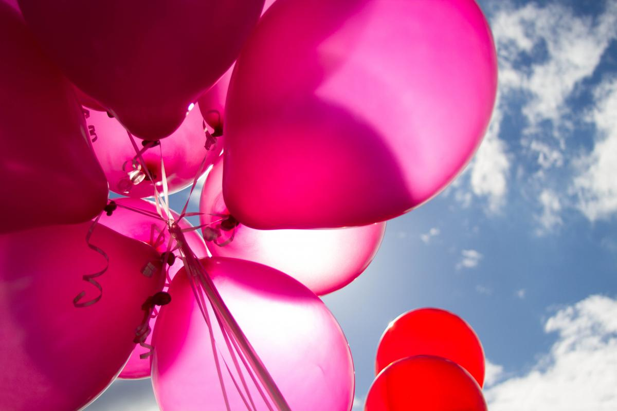 Pink and Red Balloons during Daytime #50182