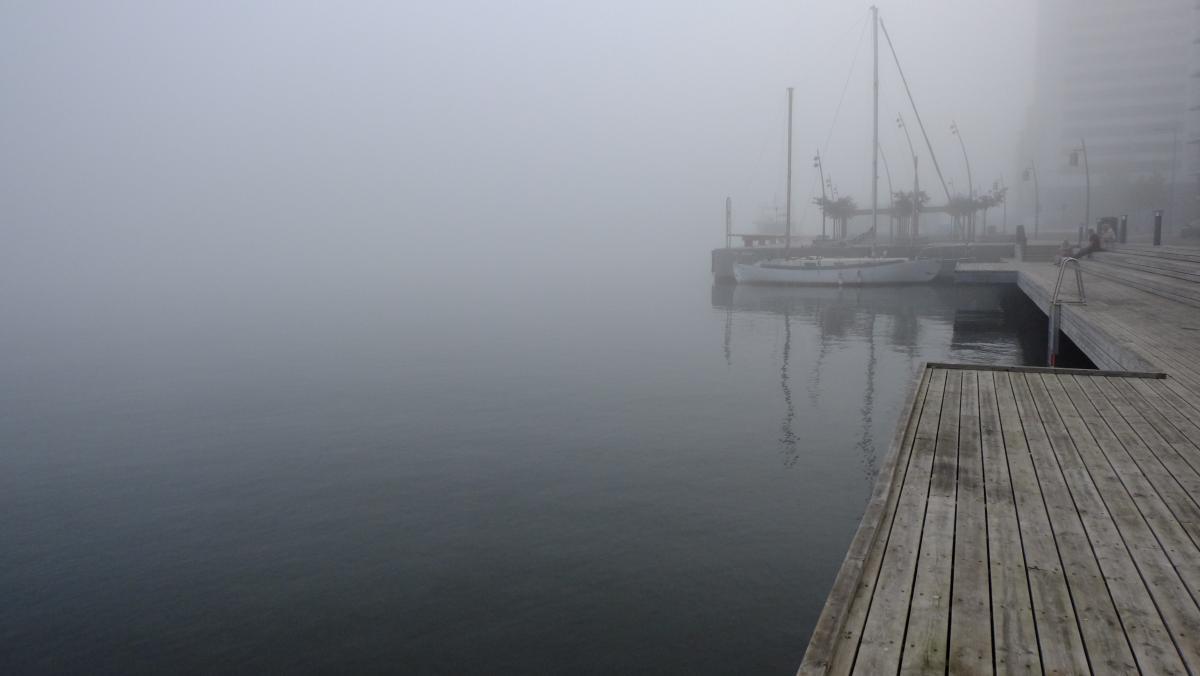 Boat fog foggy gray #51472