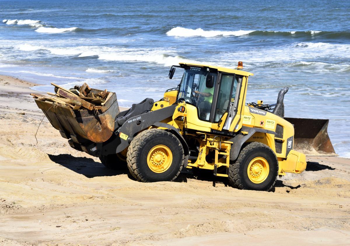 Beach beach clearing beach erosion bulldozer #53200