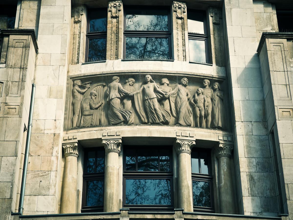 Architecture building city dusseldorf #53855