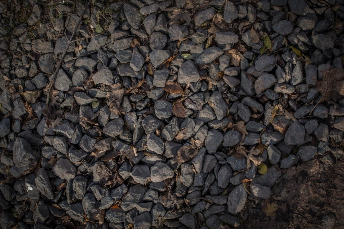 Autumn leaf gravel grey pattern texture #54247