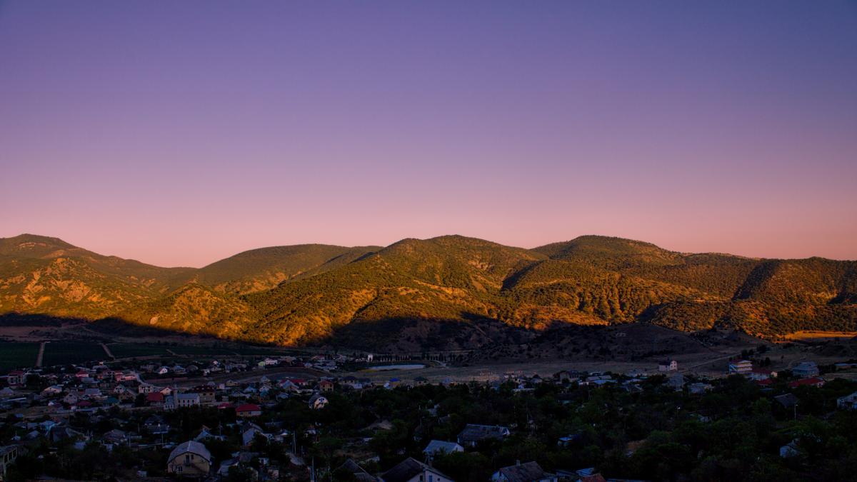 Dawn dusk landscape mountain #57355
