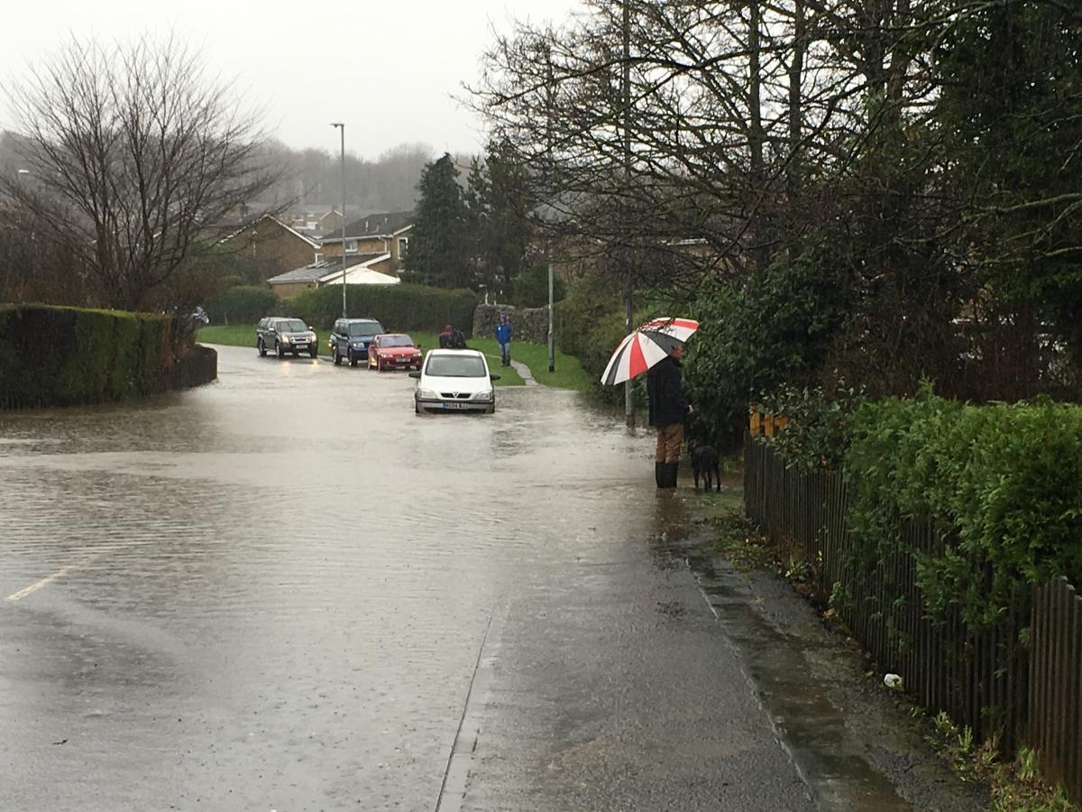 Car downpour flood flooding #57820