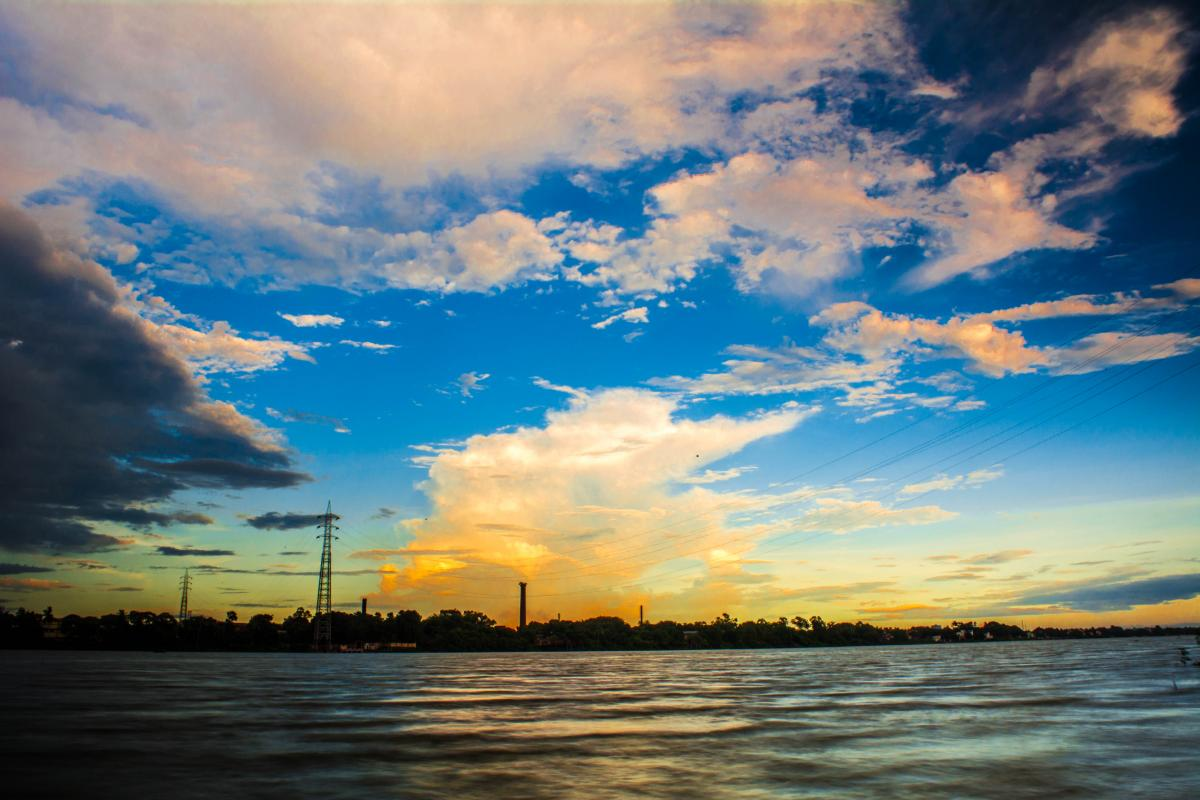 Scenic View of Landscape Against Sky at Sunset #62797