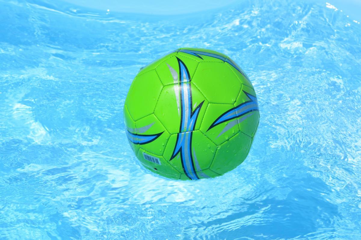 Ball swimming pool water