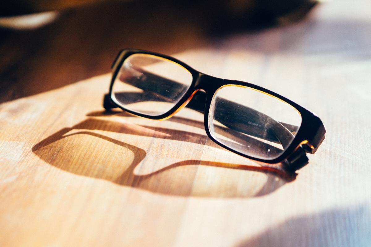 Accessory close up eyeglasses eyewear