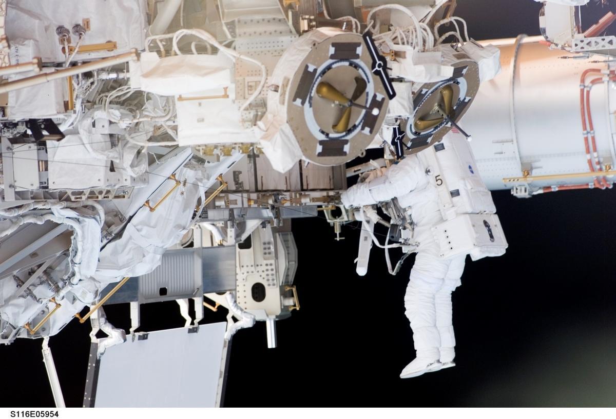 Astronaut balance cosmos earth