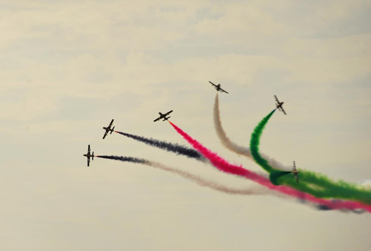 Aerobatics airplanes airshow demonstration