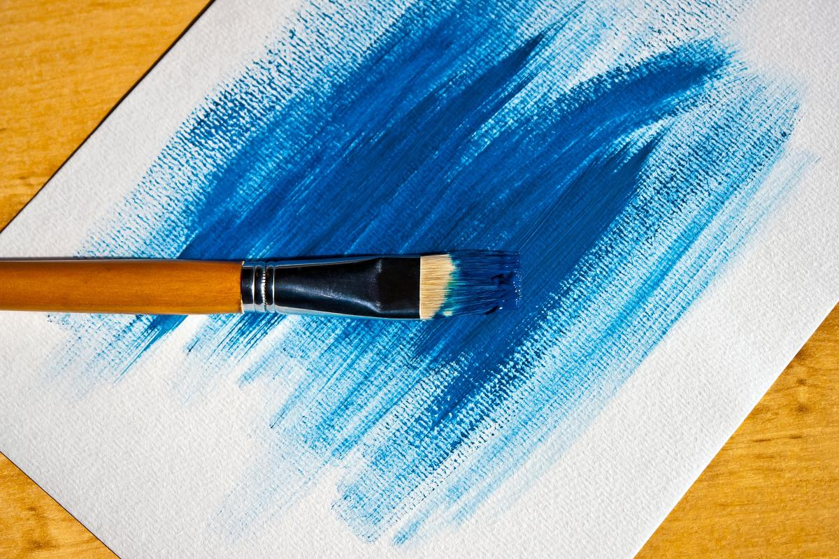 Blue brush color colored