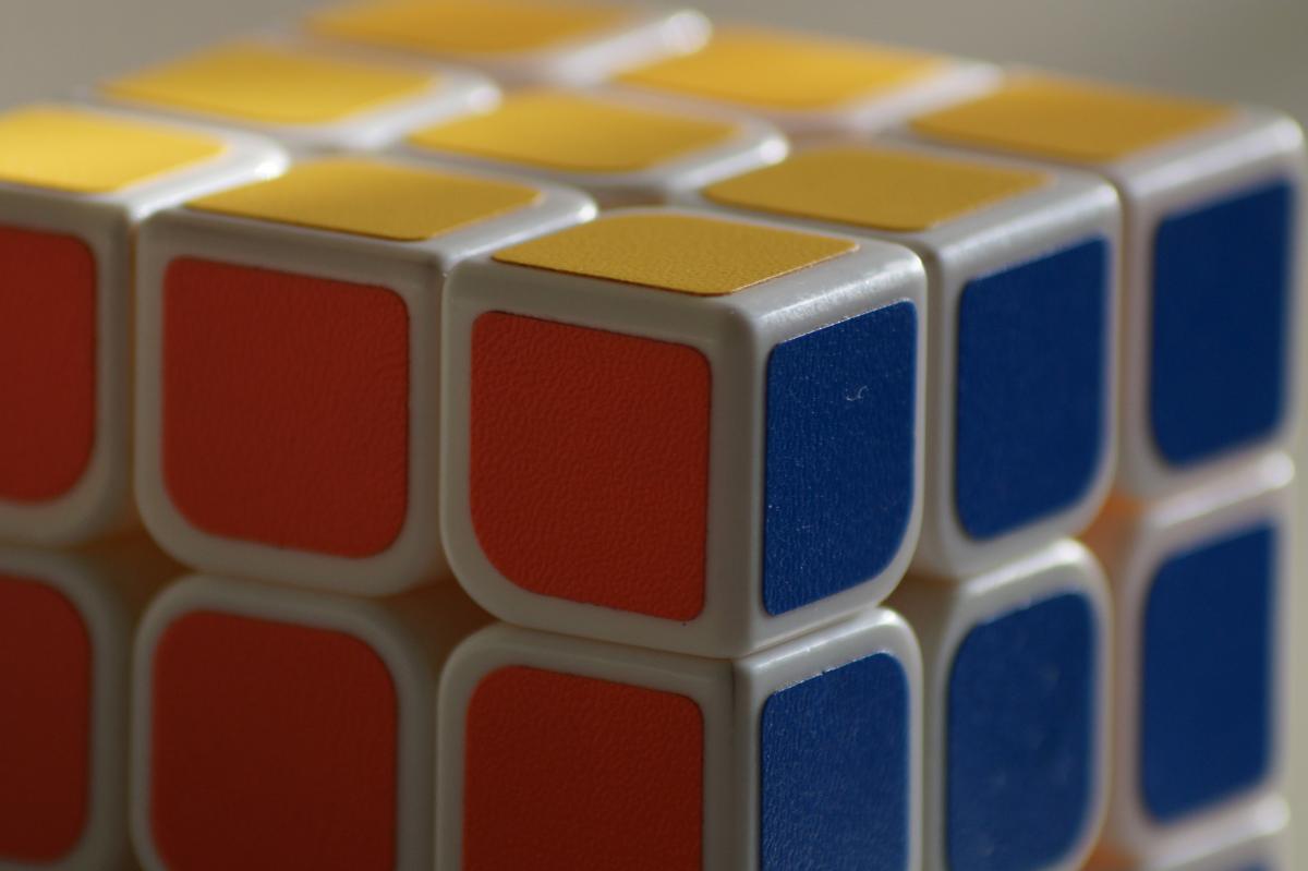 Abstract assemble blur close up