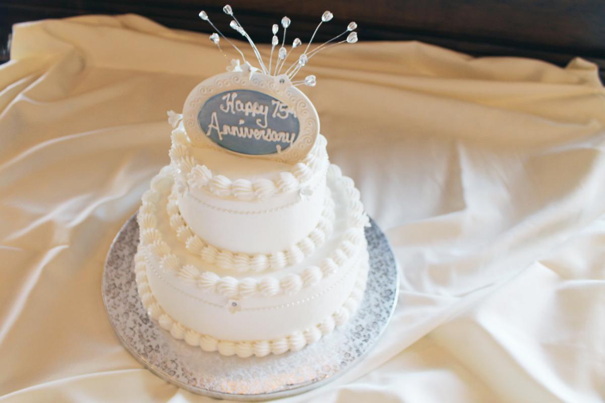 75 75th anniversary cake