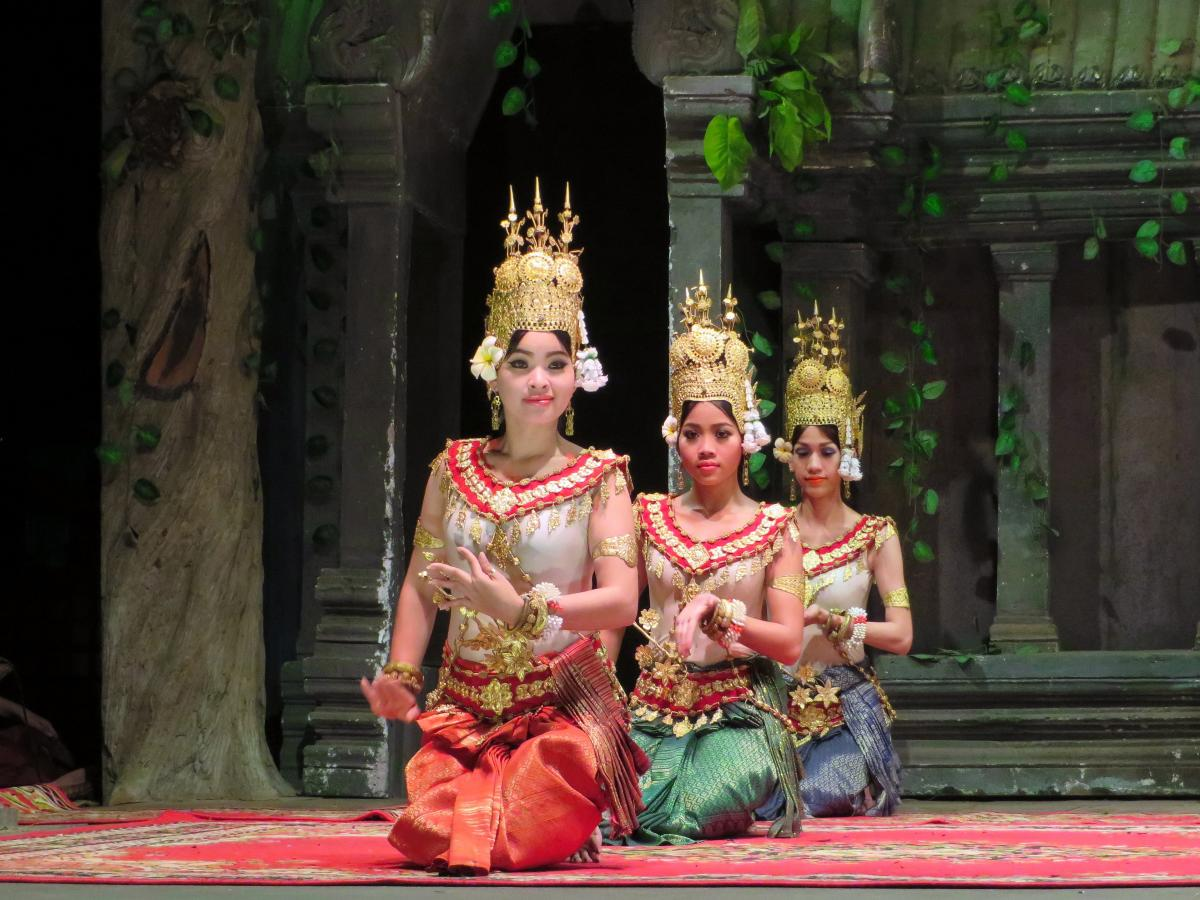 Cambodia dance dancers show