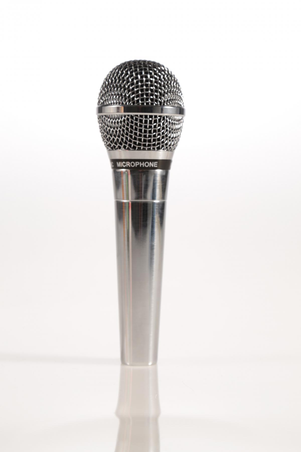 Comedy Mikrofon silber #80543