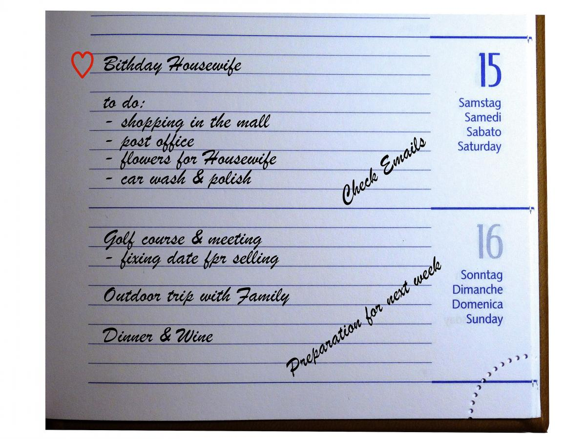 Agenda appointment scheduler calendar daily plan