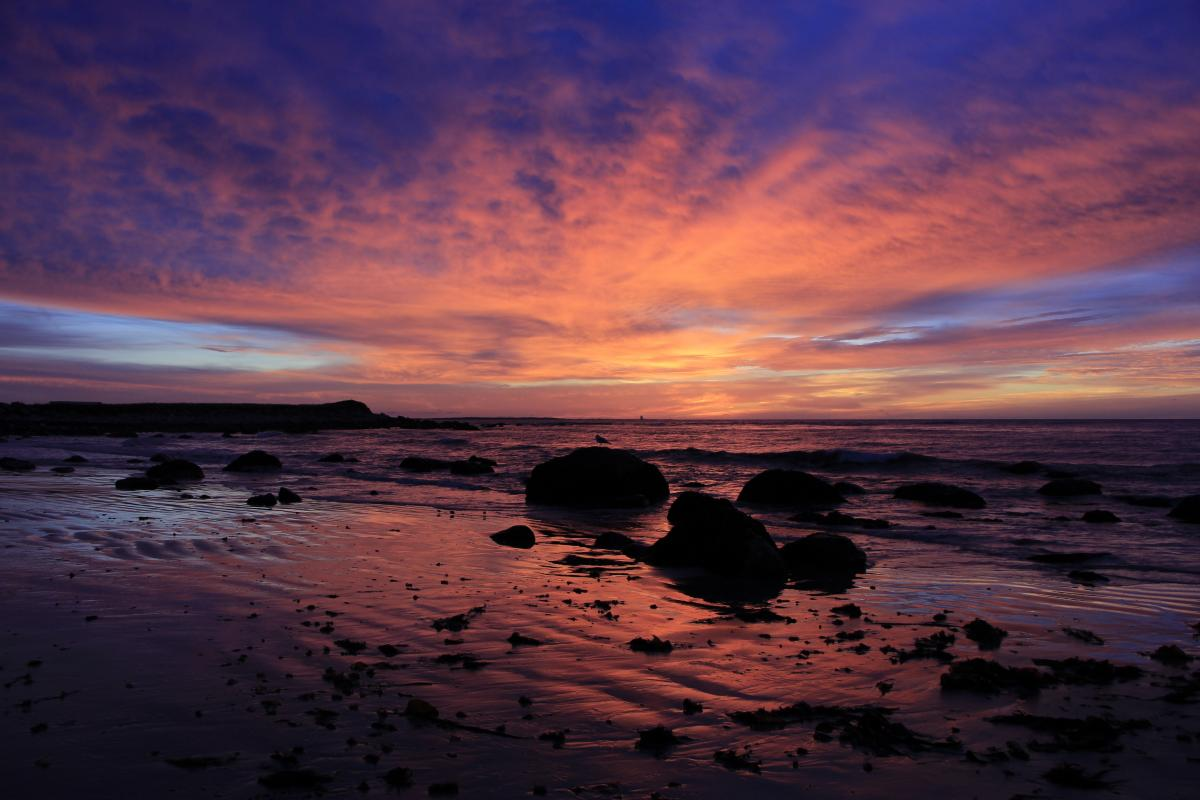 Beach clouds coast coastline #81320