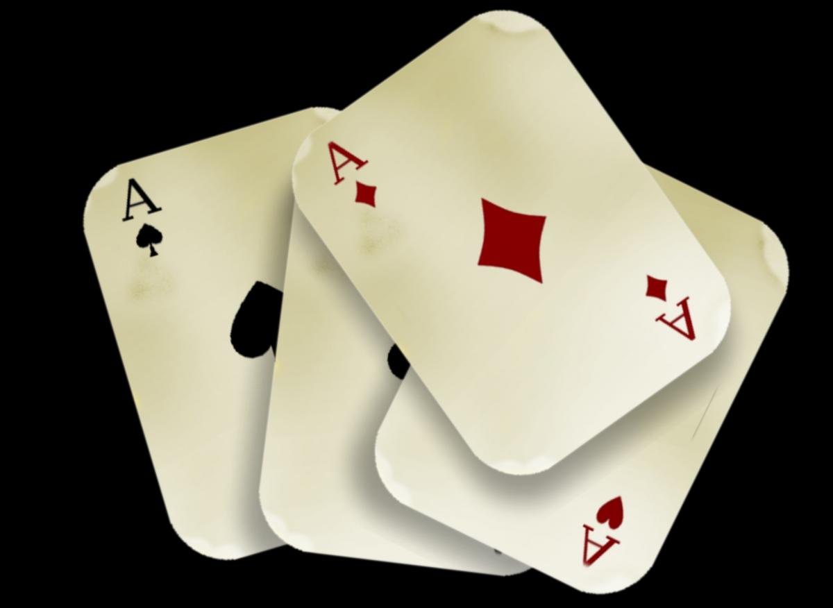 Aces cards casino chance