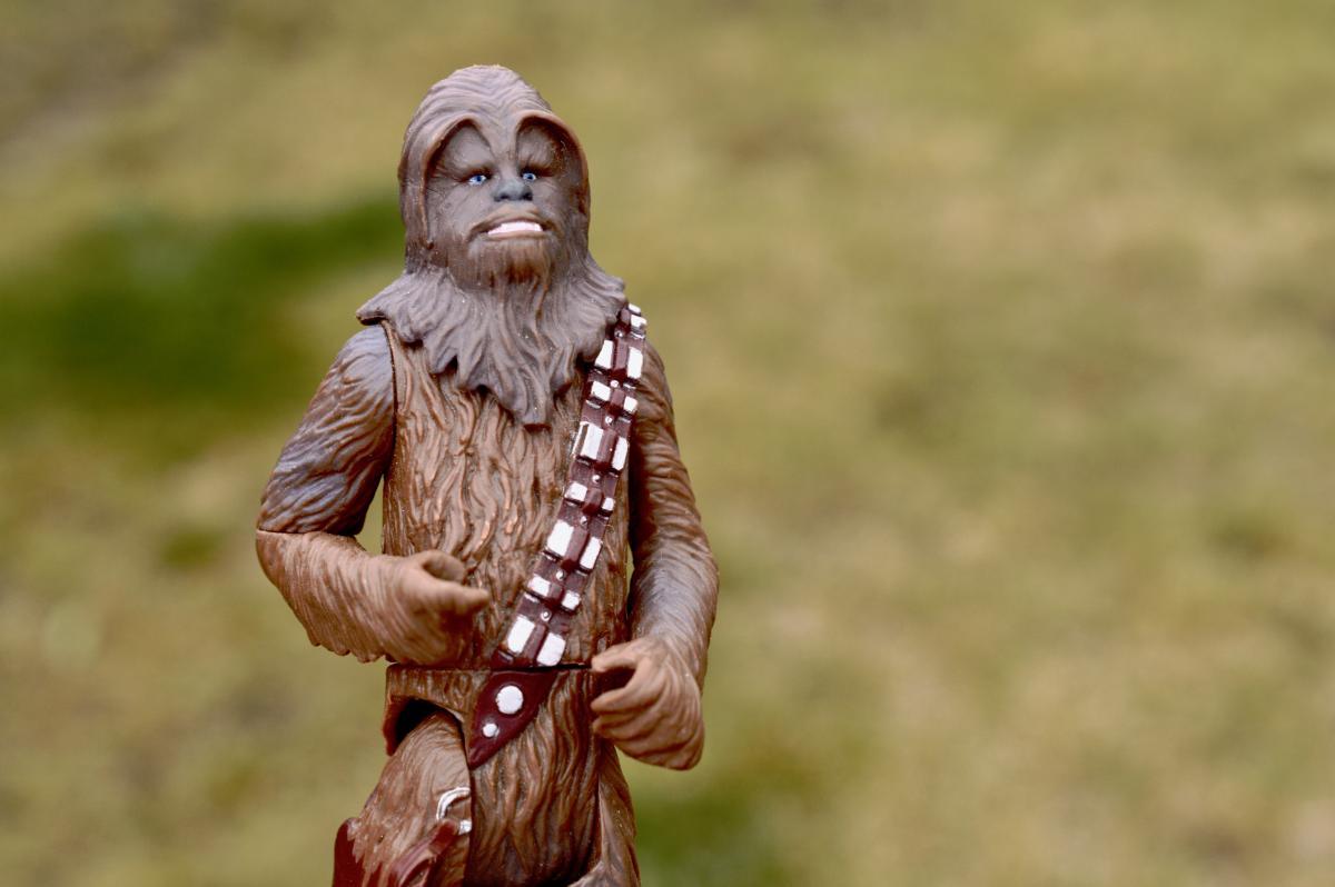 Action figure chewbacca film movie