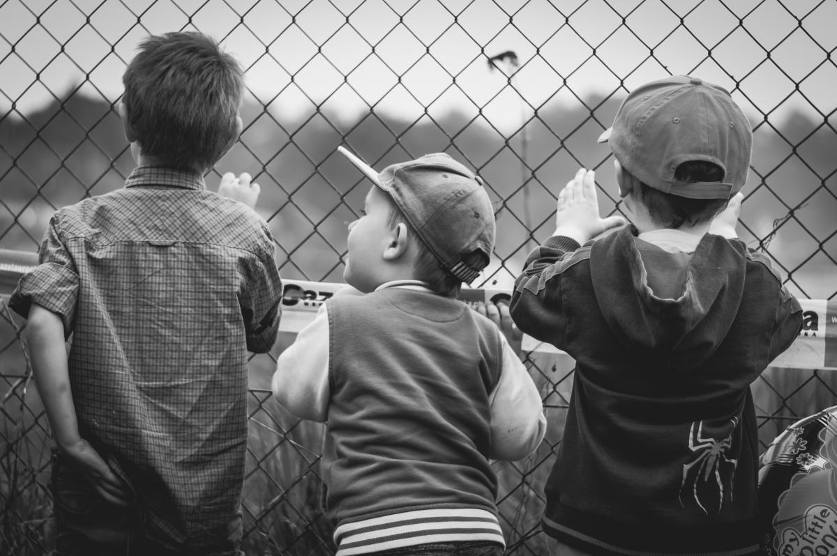 Black and white boys children curiosity #84745