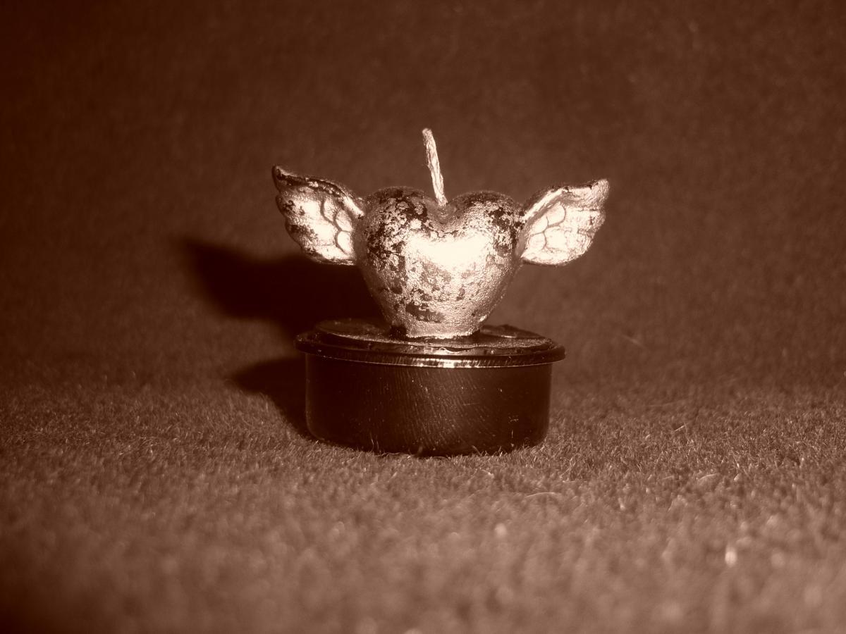 Candle heart tealight wax #85646