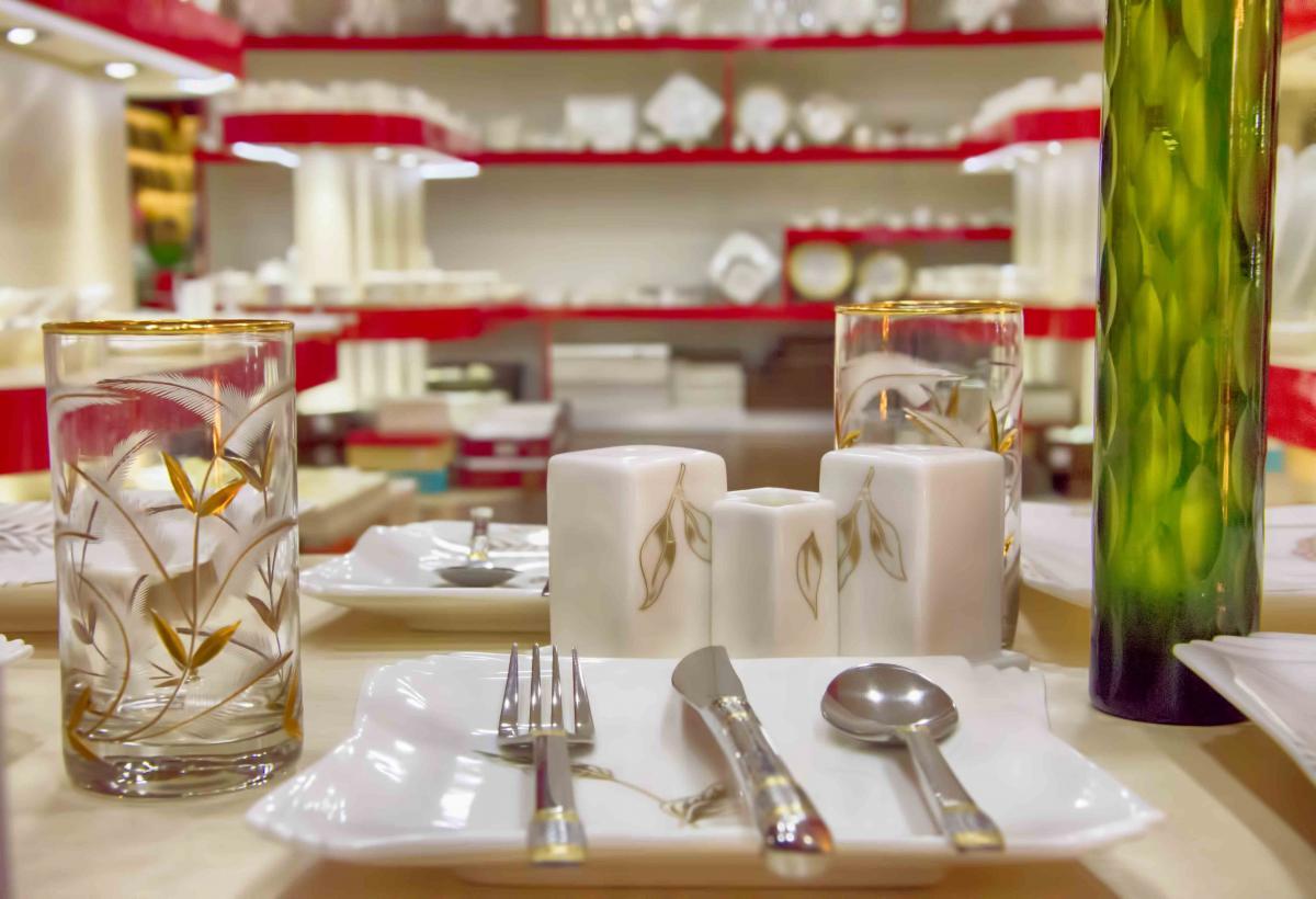 Ceramic contemporary cutlery decorative items #86075
