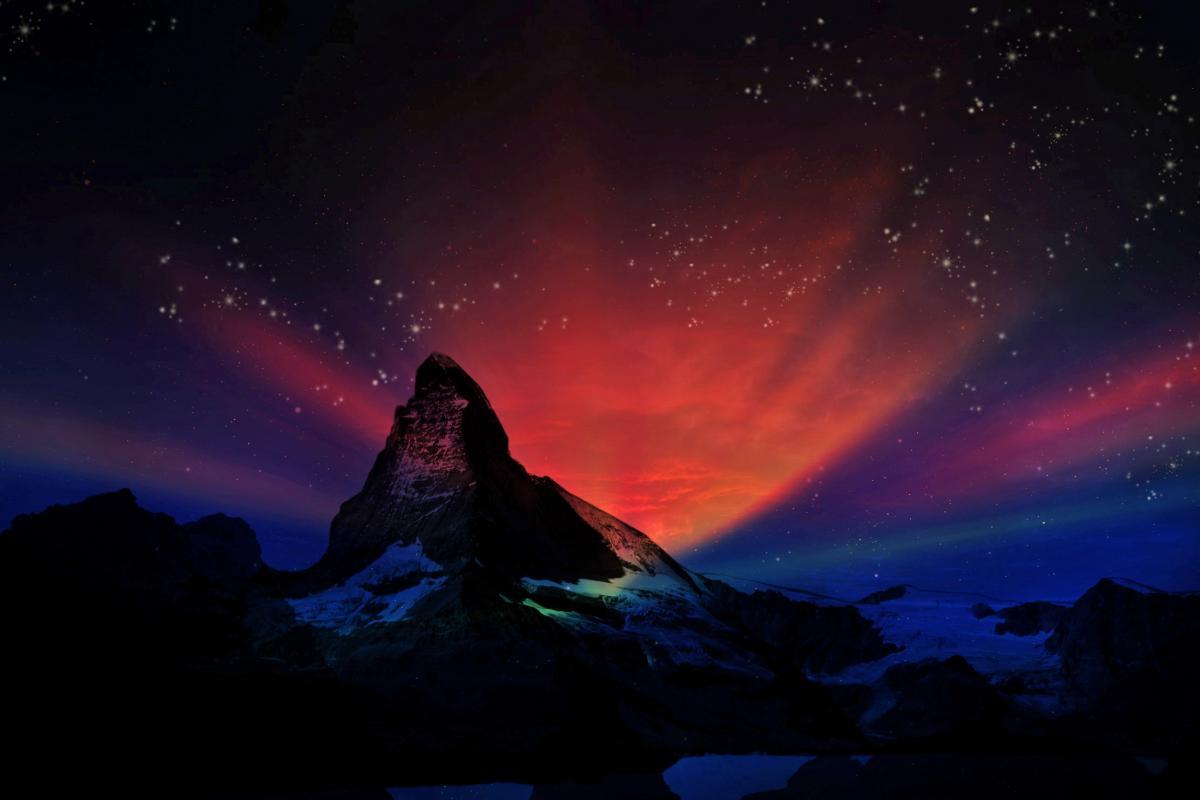 Alps aurora dark dream #86319