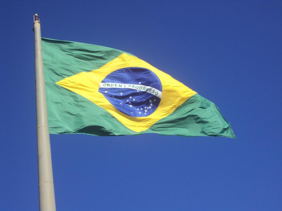 Brazil flag home