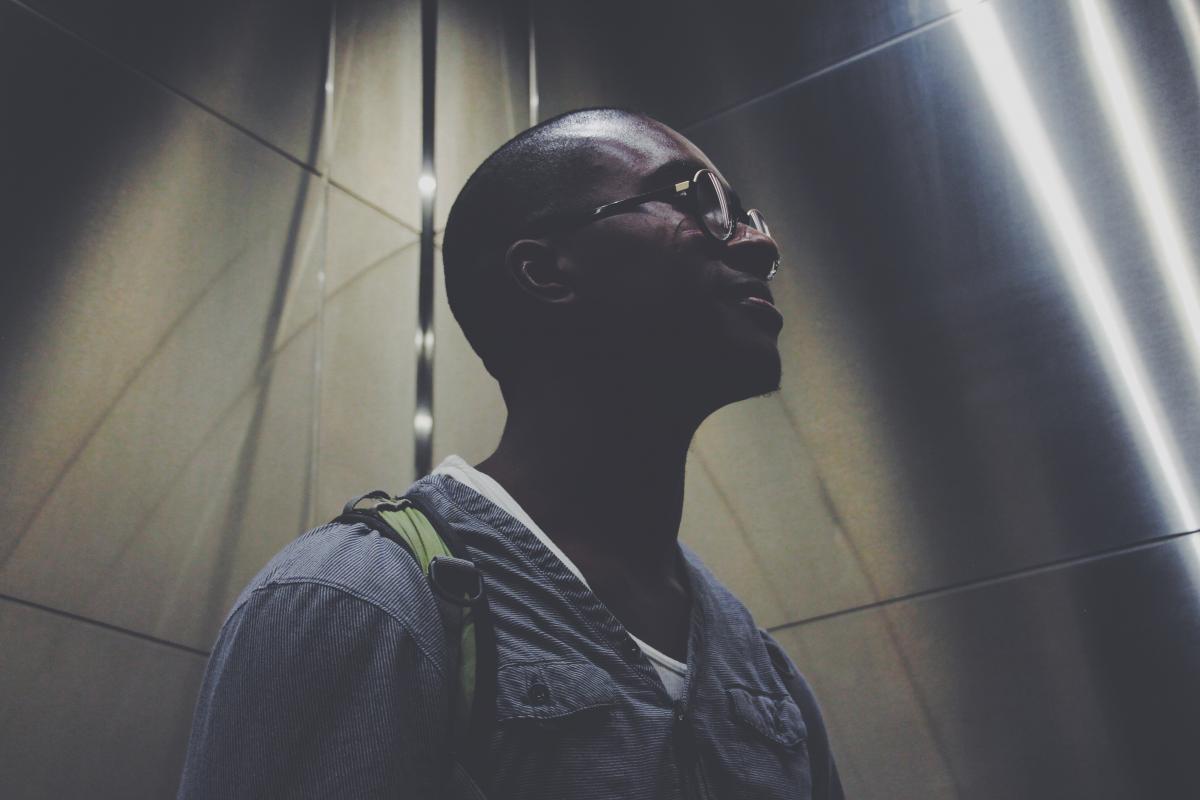 Adult dark elevator eyeglasses #87720