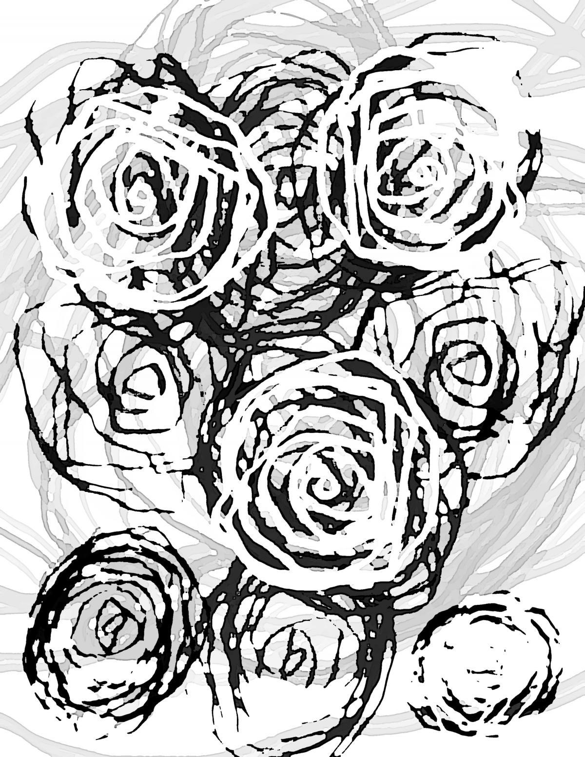 Black and white roses #88346
