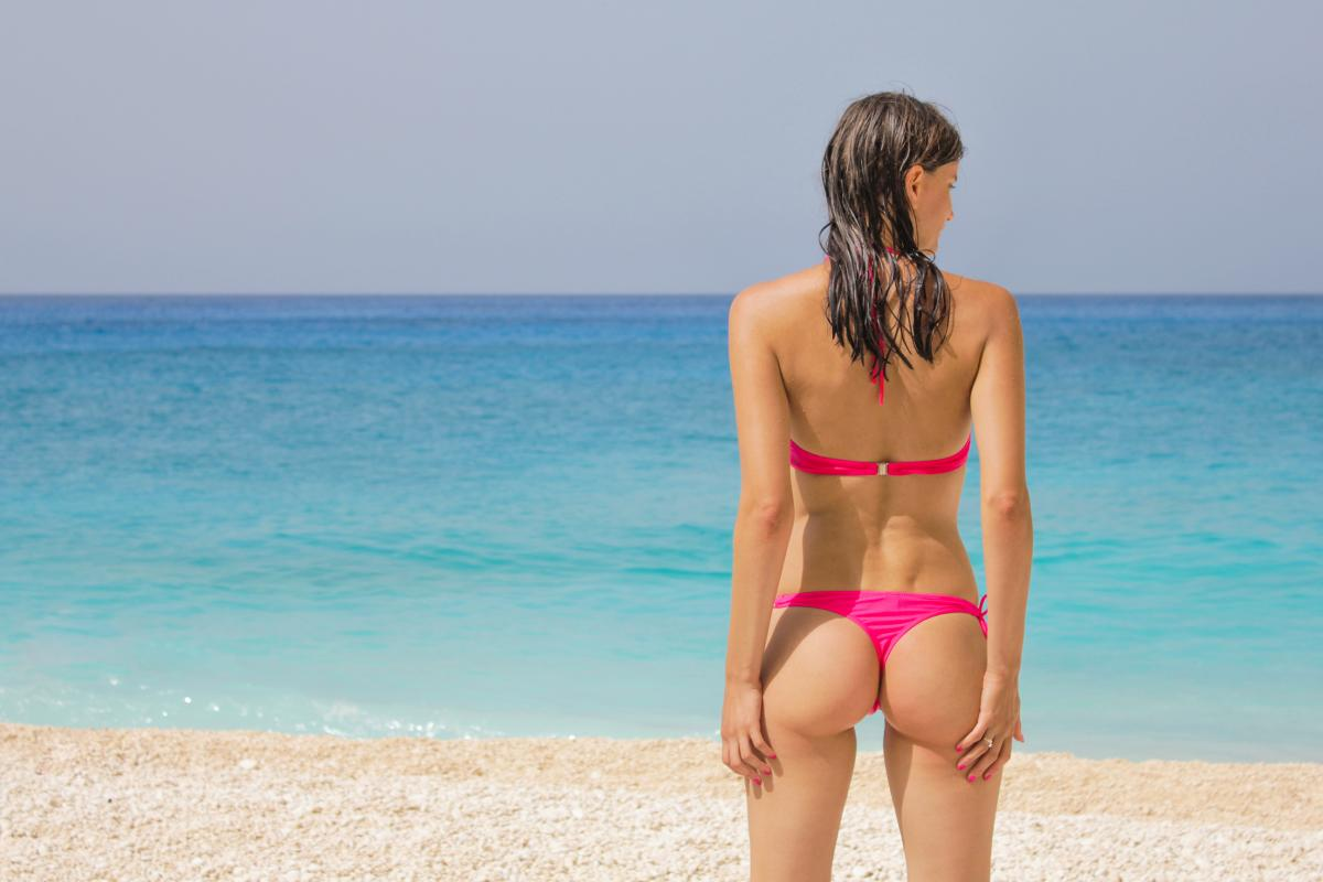 Ass beach bikini female #91212