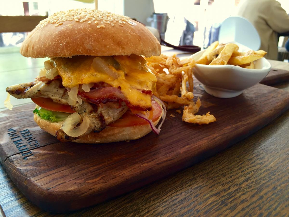 Burger chips food fries Free Photo - Avopix com