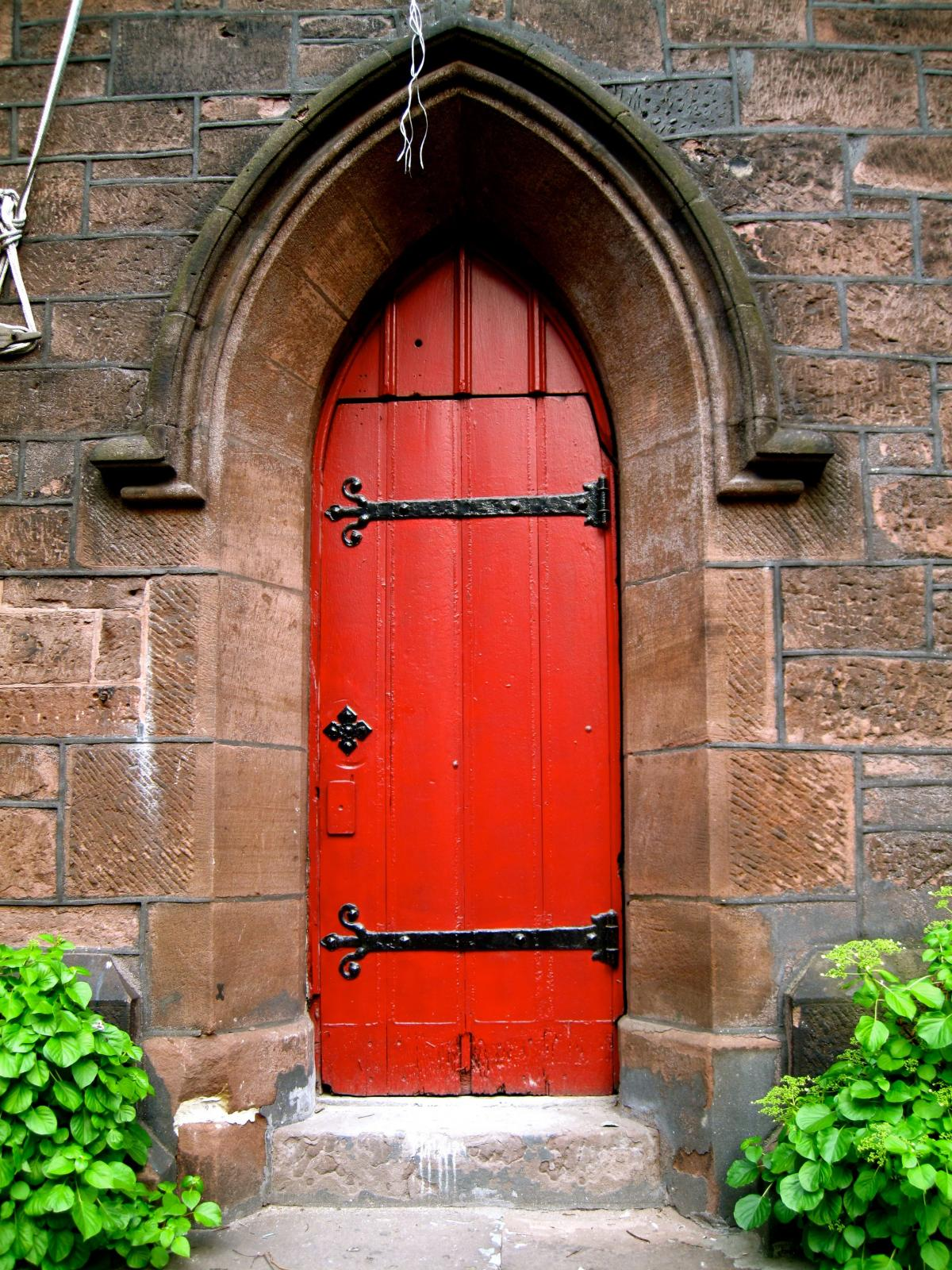 Puerta roja puerta #95389