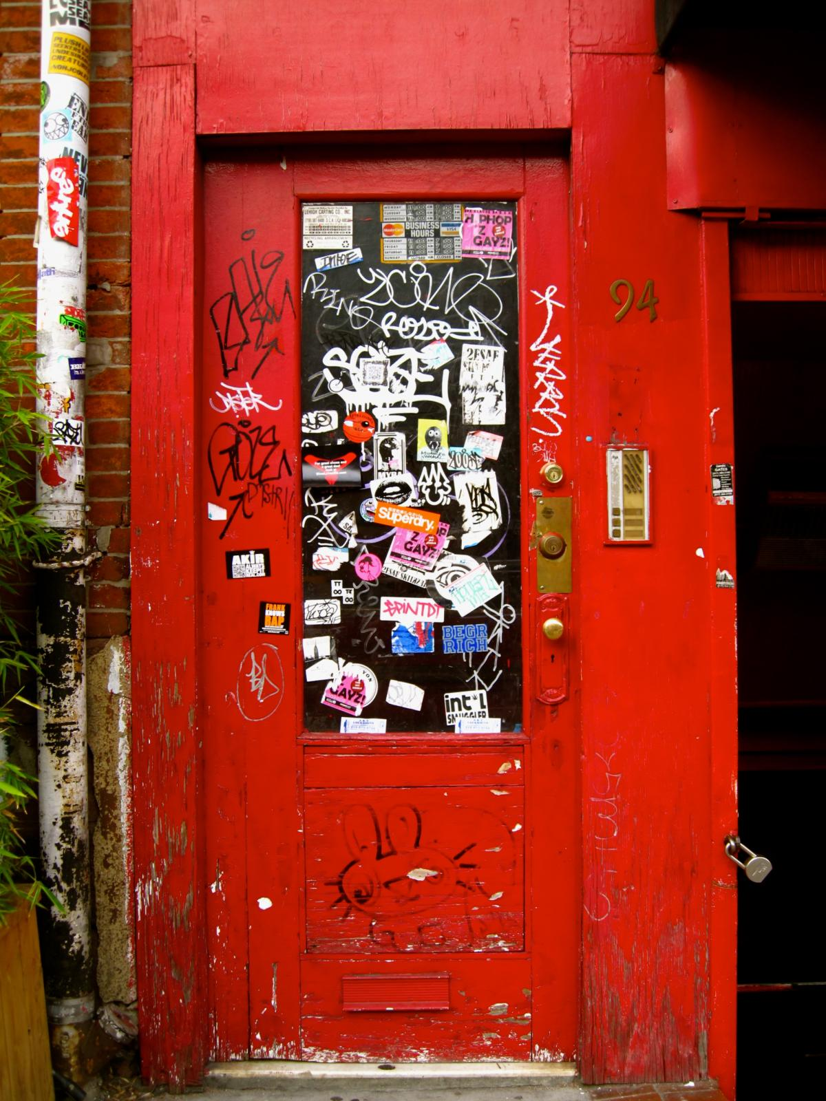 Free Door New York Red Door Soho 95447 Stock Photo Avopix
