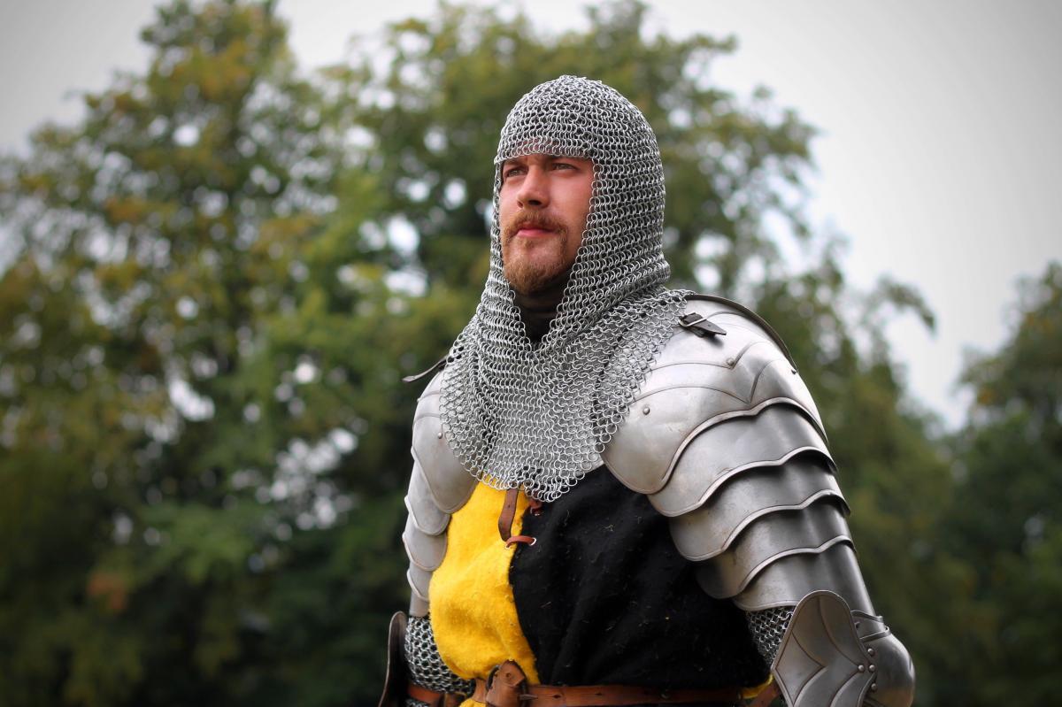 Armor beard character fencing