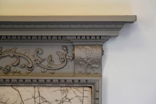 Fireplace mantelpiece stucco Free Photo