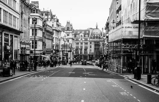 City london black and white people street #100116