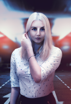 Beautiful girl blonde blonde hair blue eyes #100135