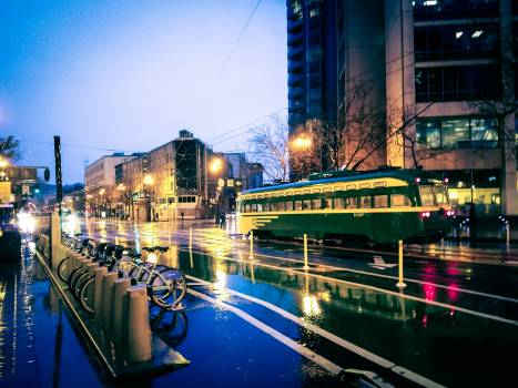Bicycle bike city city lights #100152