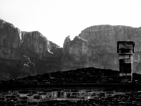 Chimney greece papigko stone path #100215