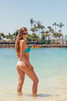 Beach bikini female ocean #100236