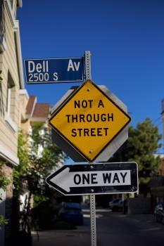 Passage Sign Street sign Free Photo