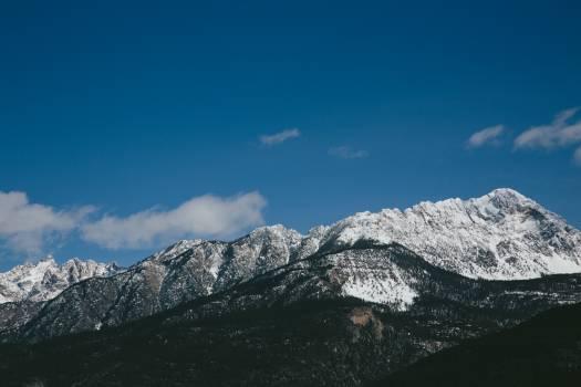 Mountain Range Snow #11083