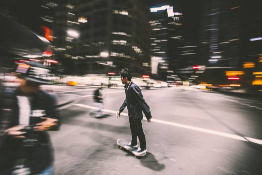 Skate Silhouette Man #11278