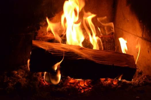 Fireplace Fire Flame Free Photo