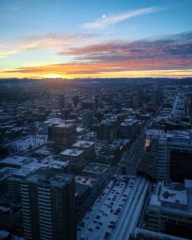 Skyscraper City Aerial Free Photo