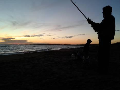 Fisherman Reel Sunset Free Photo