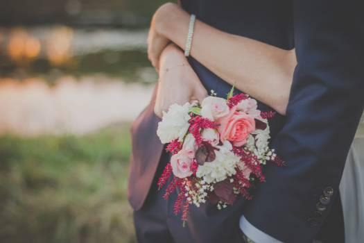 Bride Dress Bouquet Free Photo