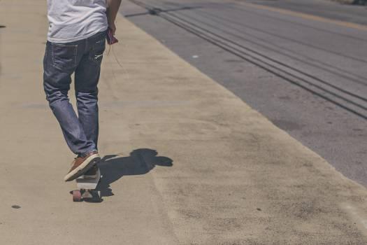 Skate Silhouette Man #13604