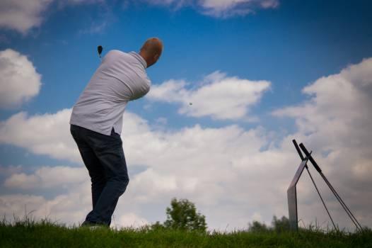 Golfer Grass Player #14320