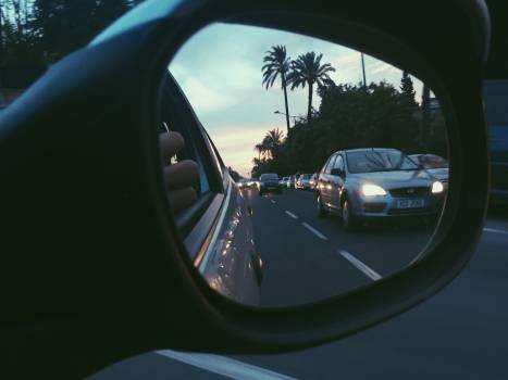 Car mirror Mirror Reflector Free Photo