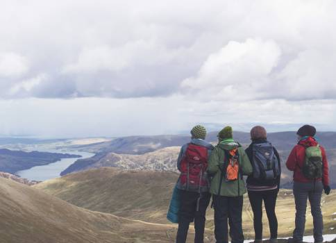 Mountain Hiking Highland Free Photo
